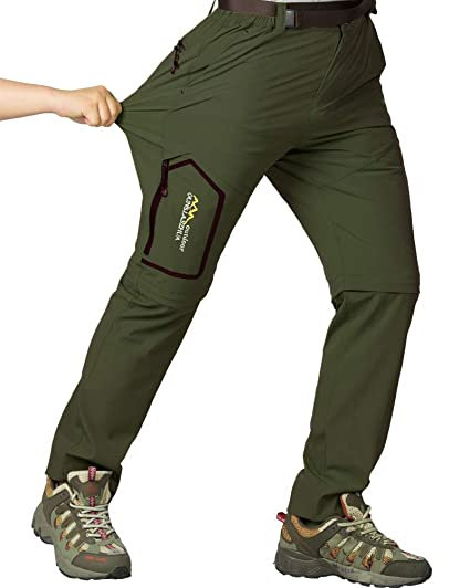 Mens 2-in-1 Quick Dry Convertible Zip Off Pants Fishing Hiking Cargo Trousers