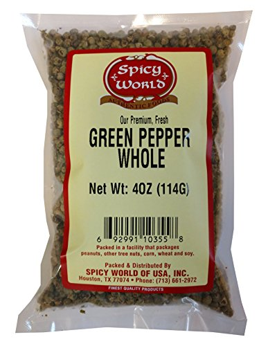 Spicy World Green Peppercorns 4 Ounce