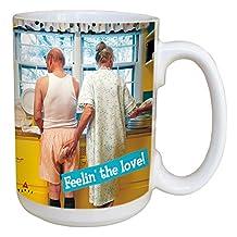 Tree-Free Greetings LM45863 Avanti Humor Feeling the Love Ceramic Mug with Full-Sized Handle, 15-Ounce, Multicolored