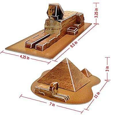 Runsong Creative 3D Puzzle Paper Model Egypt Pyramids DIY Fun & Educational Toys World Great Architecture Series, 29 Pcs: Toys & Games