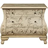 Pulaski DS-P017037 Words of Encouragement Hand Painted Bombay Chest, Antique White