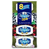Royale Facial Tissue, 3-ply, 72 Sheets Per Box, 8 Pack