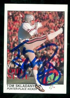 tom-skladany-autographed-football-card-ohio-state-kroger