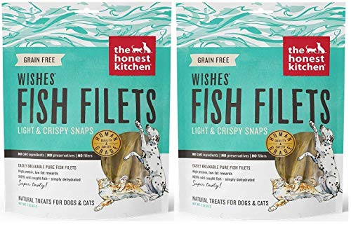 Honest Kitchen The Wishes: Natural Human Grade Dehydrated Fish Filets, Treats for Dogs/Cats, 6 oz