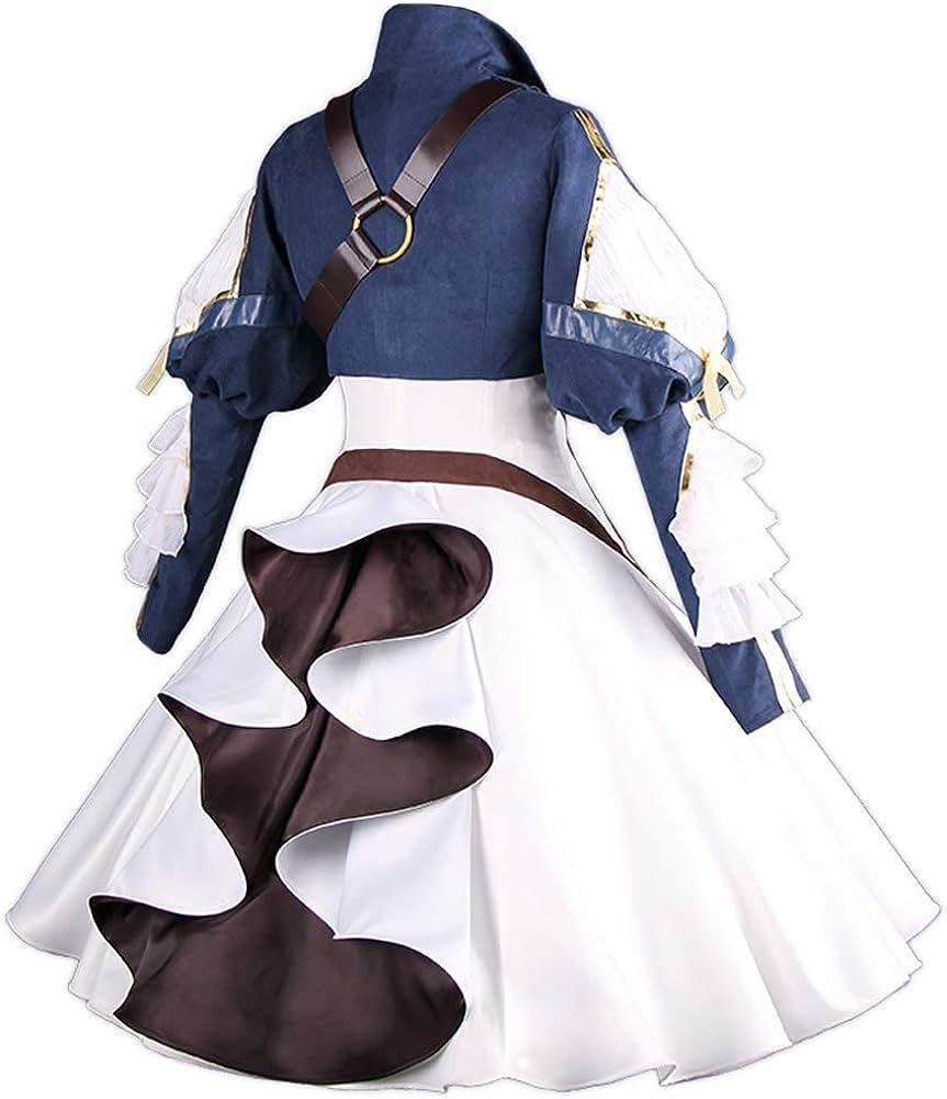 Angelaicos Women's Violet Evergarden Costume Long Lolita Dress Cosplay Uniforms
