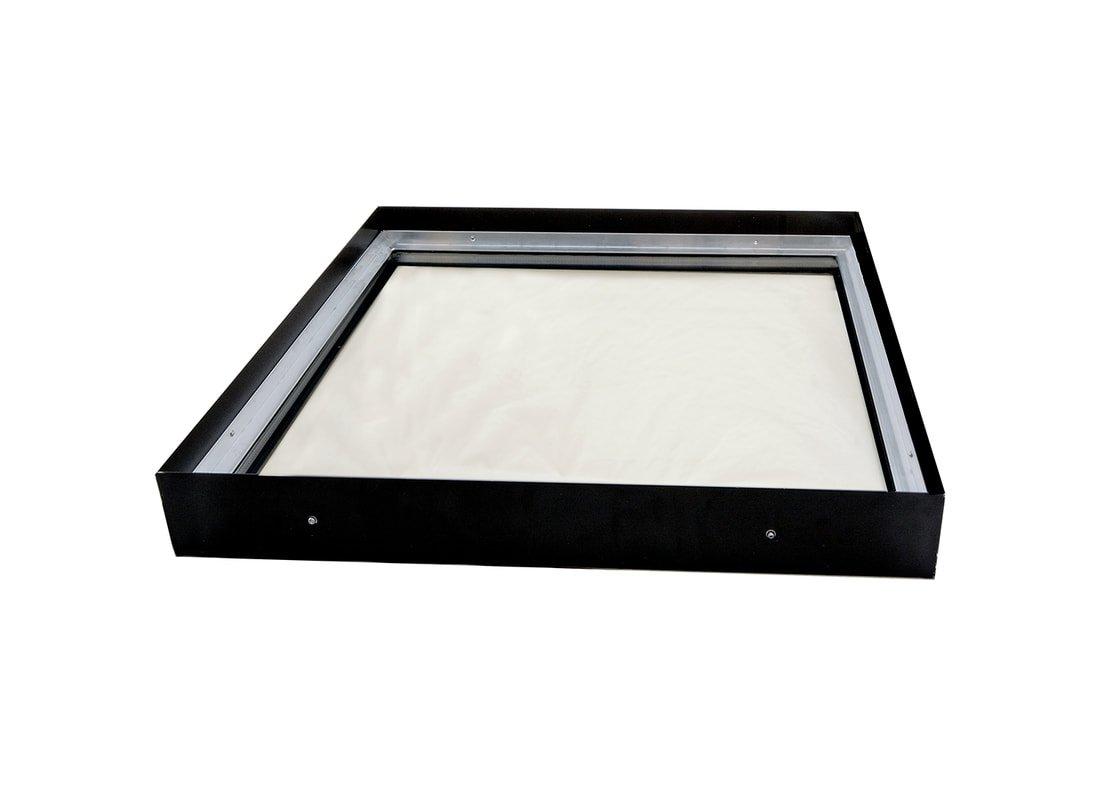 2 Drop SIG Skylights CM3B 24 x 48 Curb Mounted Glass Skylight w//Bronze Insulated Glass