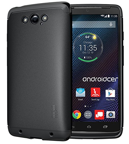 TUDIA Ultra Slim LITE TPU Bumper Protective Case for Motorola DROID Turbo (Verizon) (NOT Compatible with Ballistic Nylon Version) (Black)