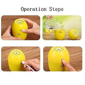 Lucky Gourd Lemon luminous USB Creative Mini Humidifier (Yellow)