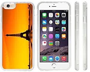 lintao diy Rikki KnightTM Eiffel Tower Design iPhone 6 Case Cover (Clear Rubber with front bumper protection) for Apple iPhone 6