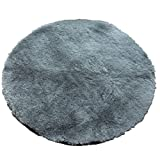 Edge to Carpet Rug Soft Fine Carpet, Round Mat Computer Chair Blanket, Meditation Blanket Yoga Mat Machine Wash Can Not Be Lint multiple colour (Color : Gray)