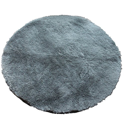 Edge to Carpet Rug Soft Fine Carpet, Round Mat Computer Chair Blanket, Meditation Blanket Yoga Mat Machine Wash Can Not Be Lint multiple colour (Color : Gray) by Edge to
