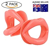 Facial Muscles Lips - 2 Pieces Healthy Safe Silicone Rubber Anti-wrinkle Anti-aging Face Slimmer Mouth Muscle Tightener Face Exercise Lips Trainer Face-lift