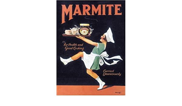 3 sizes - Small // Large and Jumbo Marmite Metal Wall Sign