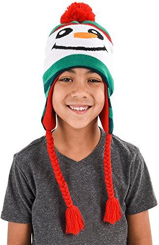 SNOWMAN HAT WITH BRAIDS 1 pcs