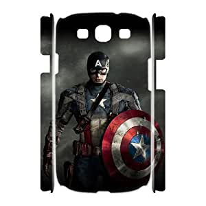 C-EUR Captain America Customized Hard 3D Case For Samsung Galaxy S3 I9300