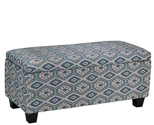 - Cortesi Home Yarka Storage Ottoman in Linen