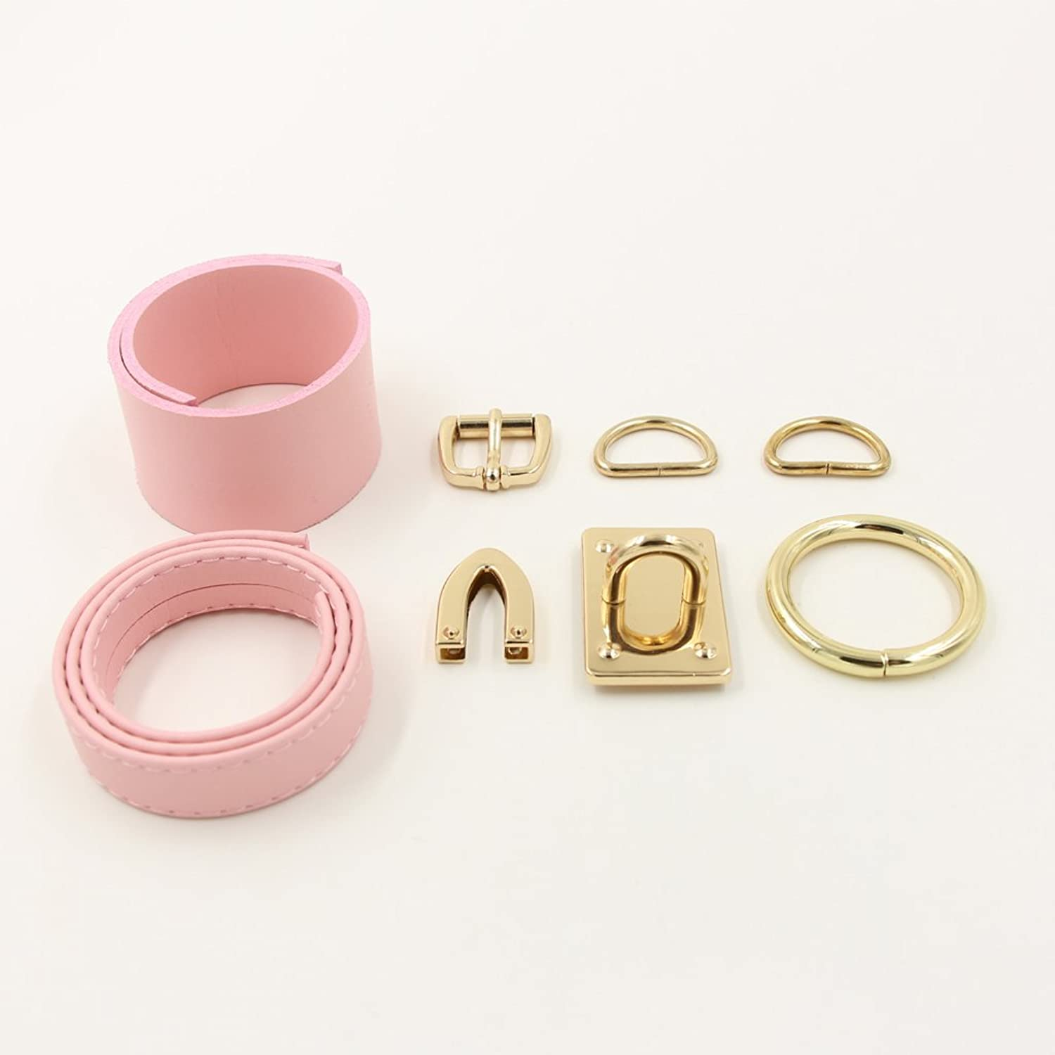 Amazon Handmade O Ring Faux Leather Choker Collar Pink & gold