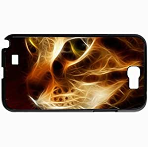 Personalized Protective Hardshell Back Hardcover For Samsung Note 2, Camelot Design In Black Case Color