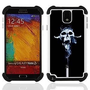 - Design Smoke Skull/ H??brido 3in1 Deluxe Impreso duro Soft Alto Impacto caja de la armadura Defender - SHIMIN CAO - For Samsung Galaxy Note3 N9000 N9008V N9009