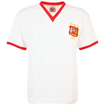 TOFFS Manchester United 1957 FA Cup Final Retro Football Shirt (SMALL) 92ef1ea7c