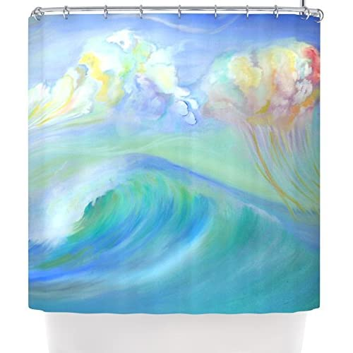 "Hot Kess InHouse Theresa Giolzetti ""Jelly Fish"" Blue Teal Shower Curtain, 69 by 70-Inch supplier"