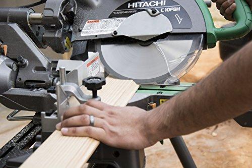 Hitachi C10FSHPS 12-Amp 10-Inch Sliding Dual Compound Miter Saw with Laser Marker