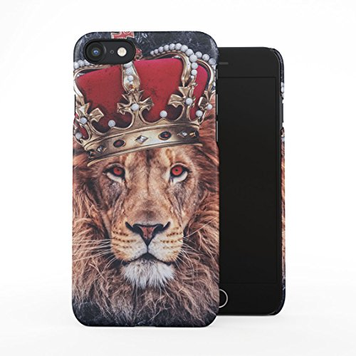Jungle King Queen Lion Trill Gold Tumblr Dark Blue Marble Plastic Phone Snap On Back Case Cover Shell Compatible with iPhone 7 & iPhone 8