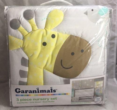 Garanimals Animal Crackers 3-piece Crib Bedding Set Gray Crib/toddler Bed