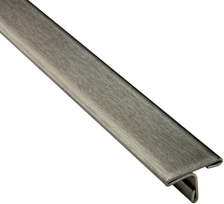 T-Profil Edelstahl /Übergangsschiene /Übergangsprofil V2A geb/ürstet gl/änzend L250cm 15mm geb/ürstet