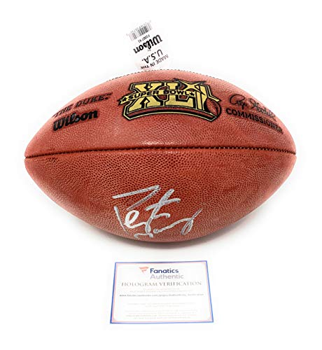 (Peyton Manning Indianapolis Colts Signed Autograph Super Bowl XLI Duke Authentic Football Fanatics Authentic Certified)