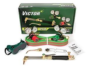 Victor Technologies 0384-2540 Medalist 250 System Medium Duty Cutting System, Acetylene Gas Service, G250-15-510 Fuel Gas Regulator from Victor
