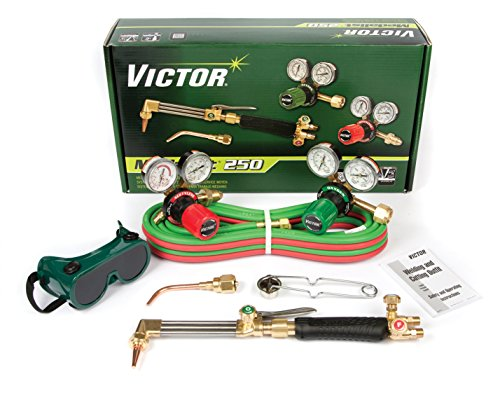 (Victor Technologies 0384-2540 Medalist 250 System Medium Duty Cutting System, Acetylene Gas Service, G250-15-510 Fuel Gas Regulator)