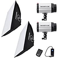 Neewer 500W(250W x 2) 5600K Photography Studio Flash Strobe Light Lighting Kit with (2)20x28/50x70cm softbox &(1)RT-16 Trigger for Video Shooting,Location and Portrait Photography