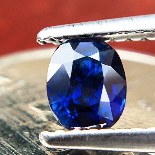 Lovemom 0.67ct Natural Oval Unheated Blue Sapphire Madagascar #W by Lovemom (Image #1)