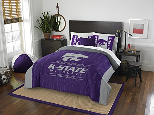 The Northwest Company Officially Licensed NCAA Kansas State Wildcats Modern Take Full/Queen Comforter and 2 Sham Set