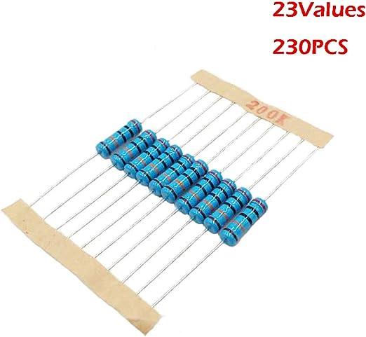 300 un a través de agujero 1//4w vatios 1/% Tolerancia 560k Ohm resistencias de película metálica