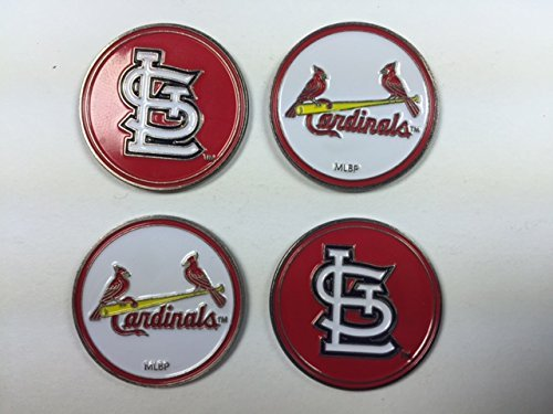 St. Louis Cardinals MLB Golf Ball Markers 4-Pack