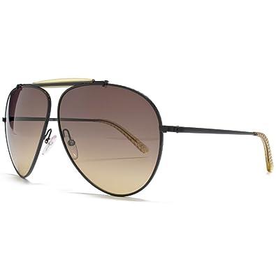 Bottega Veneta Für Mann 159 Shiny Black / Honey / Brown Gradient Metallgestell Sonnenbrillen Dzcjl