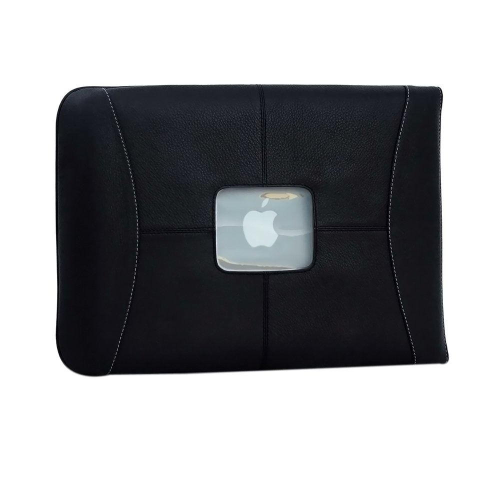 MacCase Notebook Sleeve - Side-loading - 10.75'' x 14'' x 0.75'' - Leather - Black - Black