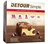 dough simple - Detour Simple Whey Protein Bar, Salted Caramel Cookie Dough, 1.1 Ounce, 9 Count