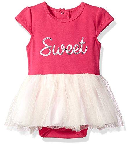 - Bon Bebe Baby Girls' Bodysuit with Tulle Skirt, Sweet Fuchsia, 18 Months
