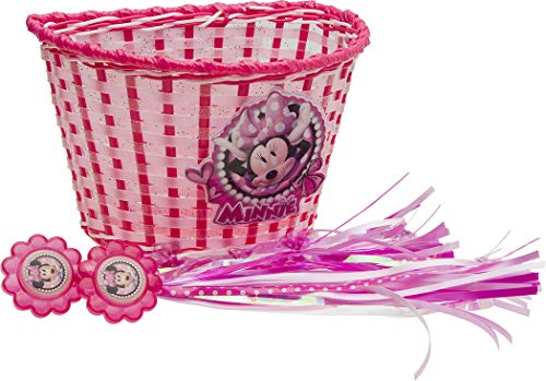 Bell Minnie Mouse Basket/Streamer - Basket Bicycle Girl