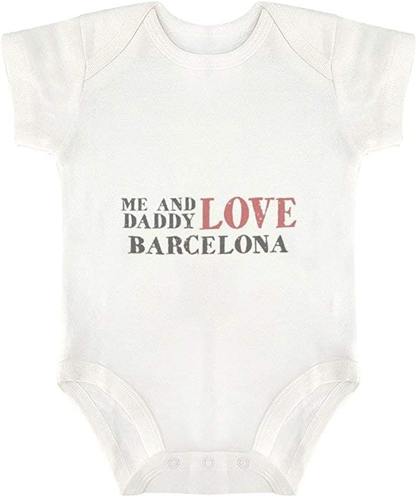 Me /& Daddy Text Love Barcelona Funny Baby Bodysuit Baby Onesies Unisex for Gifts