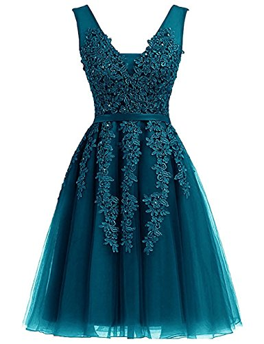 Dress Teal Homecoming (Rieshaneea Wedding Womens Short Prom Dresses Homecoming Bridesmaid Gowns Teal 8)