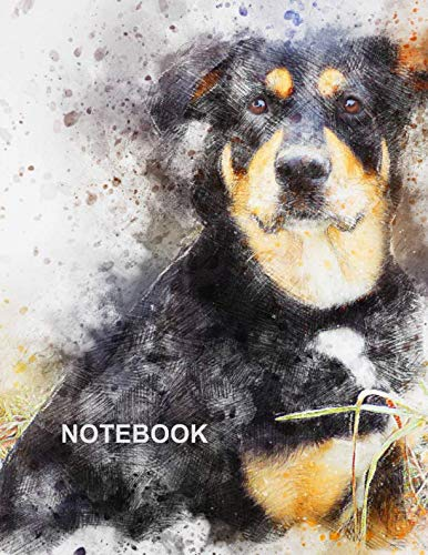 Notebook. For Dog Pet Lover. Blank Lined Notebook Planner Journal Diary.