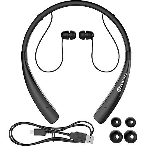 ZekPro Bluetooth Headphones With Mic [Long Lasting Battery Life]