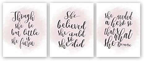 Amazon Com Hpniub Inspirational Quotes Art Print Watercolor Words Sayings Poster Set Of 3 10 X 8 Motivational Phrases Canvas Wall Art For Girls Women Bedroom Home Decor No Frame Home Kitchen