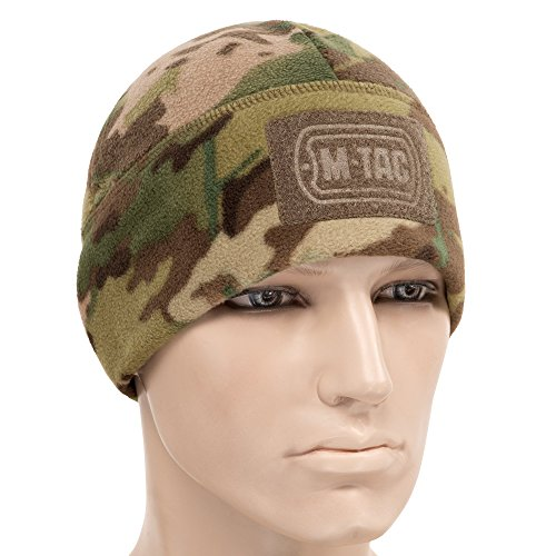 M-Tac Skull Cap Windproof 380 Winter Hat with Velcro Mens Watch Tactical Beanie (Camo, Medium)