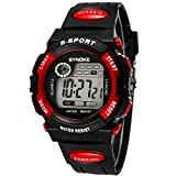 TAWURS Waterproof Sports Watches Children 's Watches(Red)