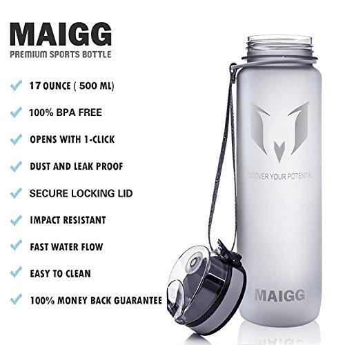 93f47880b3 MAIGG Best Sports Water Bottle -17oz- Eco Friendly & BPA-Free - Import It  All
